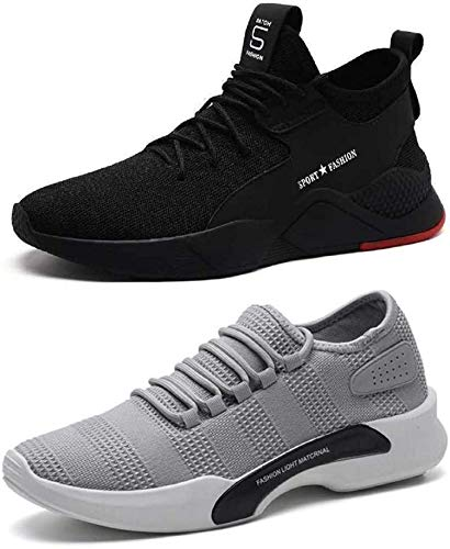 DUSE Men's Stylish Running & Casual Shoes (Pack of 2)