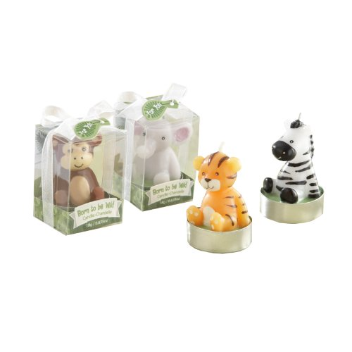Kate Aspen 4 Count Born to be Wild Assorted Animal Candles
