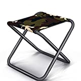 TYH Camp Stool, Lightweight hiking chair, Portable Folding Camp Chair, Foldable Outdoor Chairs for Travel Fishing Beach Backpacking Hiking Picnic Lawn Camp Travel Garden (Elemental camouflage)