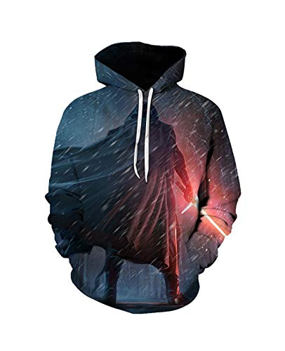 3D-Druck-Sweatshirt S-T-A-R W-A-R-S Pullover Hoodie Unisex Langarm Sport Neuheit Mit Kapuze Mode Weiche Komfortable Männer (Color : B, Size : 5X-L)