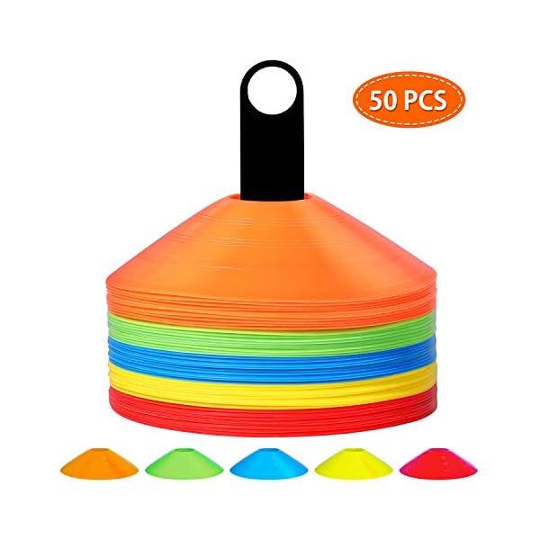 Pro Disc Cones Soccer Cones for Training Kids Sports Cones Football Cones Set of...