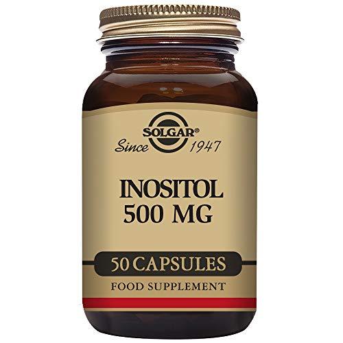 Solgar Inositol 500 Mg Cápsulas Vegetales, Envase de 50