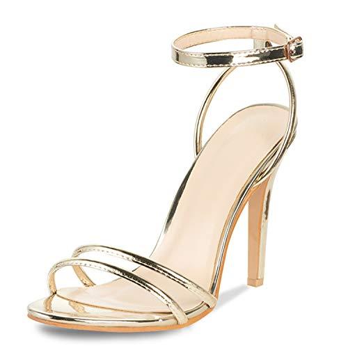 AIIT Women's Fashion Stiletto High Heel Sandal Pump Shoe