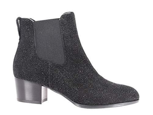 Hogan Luxury Fashion Damen HXW3140V862P0FB999 Schwarz Leder Stiefeletten | Jahreszeit Permanent