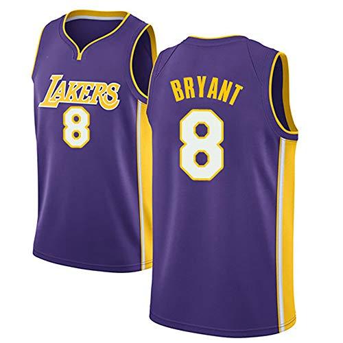 MAOMAOQUEENss Lakers #8 Camisetas Caloncesto,#LA Kobe Bryant,#NBA Nuevo Tejido Bordado, Estilo de Ropa Deportiva,Secado Rápido y Repetible Limpieza,Tamaño Estándar S-XXL,Purple-XXL
