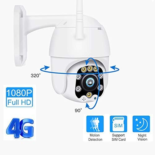 nobrand Überwachungskamera Sicherheit im Freien WiFi 1080P Start Remote Viewing Monitor wasserdichte IP66 HD-Kamera SD-Karte 8G 16G 32G Intelligente Kamera-Diebstahlsicherung (Color : 4g8GSD)