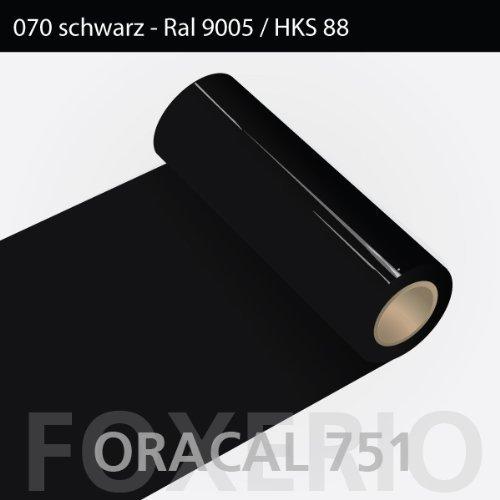 Orafol - Oracal 751 - 63cm Rolle - 5m (Laufmeter) - Schwarz / hochglänzend, A171oracal - 751 - 5m - 63cm - 01 - kl - Autofolie / Möbelfolie / Küchenfolie