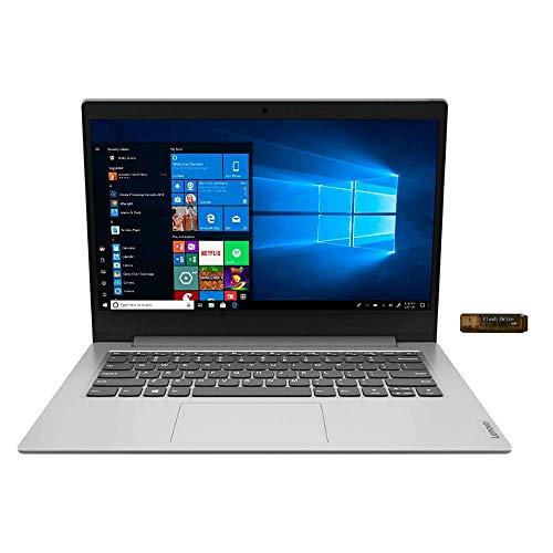 "2020_Lenovo_IdeaPad 1 14"" HD Widescreen LED Backlight Display Laptop, AMD A6-9220e, 4GB Memory, 64GB eMMC Flash Memory, AMD Radeon R4, microSD Reader, WiFi, HDMI, Bluetooth, Win10, w/Santax Accessory"