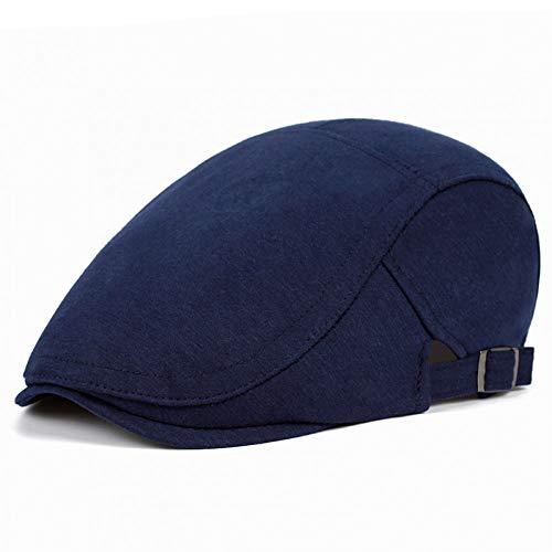 GERWADSA Flache Kappen Für Männer Hut Unisex Baskenmütze Kappe Frauen Sommer Lässig Sonne Atmungsaktiv Hüte Schwarz Baskenmützen