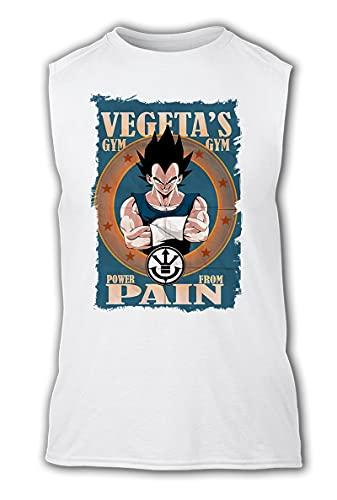 Camiseta SIN Mangas A3 Vegeta Saiyajin Power Gym Tshirt