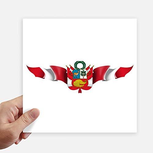 DIYthinker Peru Vlag Nationaal Embleem Vierkante Stickers 20Cm Wandkoffer Laptop Motobike Decal 4 Stks