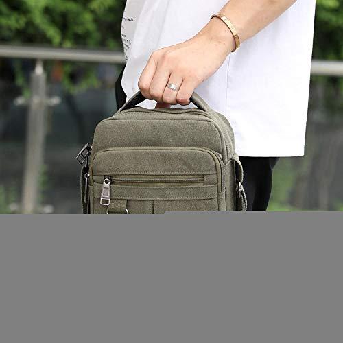 BBAGG EIN-Schulter-, Umhängetasche, Canvas-Tasche, Business, Herrentasche, lässig, Sport, WandernArmee grün