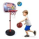 WYJBD Baloncesto niños Soporte Ajustable en Altura 60-120cm portátil montado en la Pared de pie 2 en 1 niño del aro de Baloncesto con la Bola y los niños de la Bomba Deportes Juego Set de Juegos