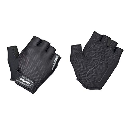 GripGrab Rouleur Gepolsterter Kurzfinger Handschuh Fahrradhandschuhe Kurz, Schwarz, S