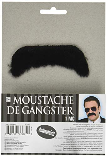 Amscan 840900 Thick Black Gangster Moustache, 1 Piece