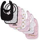 Hudson Baby Unisex Baby Cotton Bibs, Princess, One Size