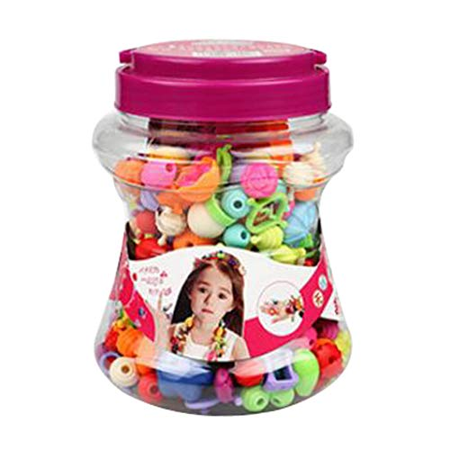 B Blesiya 1 juego de joyas para niños, collar y pulsera de perlas artesanales con caja de almacenamiento, 220 unidades