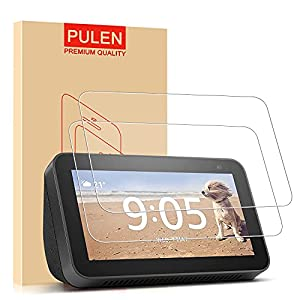 PULEN Screen Protector for Echo Show 5 / Echo Show 5 Kids (1st/2nd generation, 2019/2021 Release), Tempered Glass Film, 2 Packs