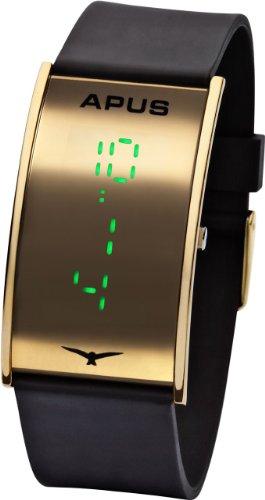APUS Gamma Gold Green AS-GA-GG LED Uhr Design Highlight