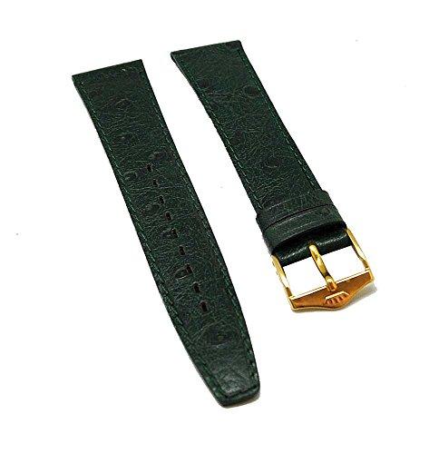 Cinturino per orologio FORTIS in pelle verde tono su tono 18 mm nuovo 8507