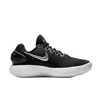 NIKE Women s Hyperdunk 2017 Low Team Basketball Shoes Black/Metallic Silver-white 897812001 Size 6.5 M US