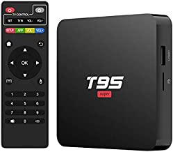 Android TV Box 10.0, T95 Super Android TV Box 2GB RAM 16GB ROM Quad-Core Media Player, Support 2.4GHz WiFi 4K H.265 3D USB 2.0, Smart TV Box Android Box for TV