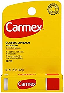 Carmex Moisturizing Lip Balm Stick SPF 15 Original 0.15 Ounces (4.25 g)