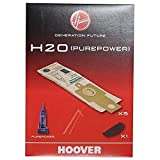 Hoover H 20 H20 Sacchetti per Pure Power (x5) con Filtro, Carta