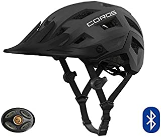 Coros SafeSound - Mountain Smart Cycling Helmet with Ear Opening Sound System,SOS Emergency Alert,LED Tail Light | Bluetooth Connection for Music and Phone Calls | Smart Remote | Lightweight