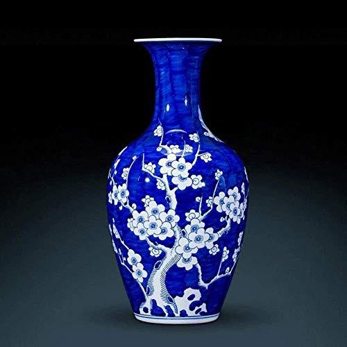 JHDDHP3 Antique Peint à la Main Porcelaine Bleue et Blanche Nouveau Style Chinois Salon Décoration, Couleur: 4a (Couleur: 7a) (Color : 3a)
