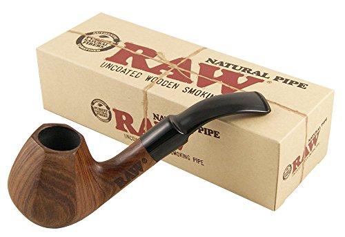 RAW Natural Pipe Pfeife aus Bubinga Holz handgeschnitzt 2 Pfeifen