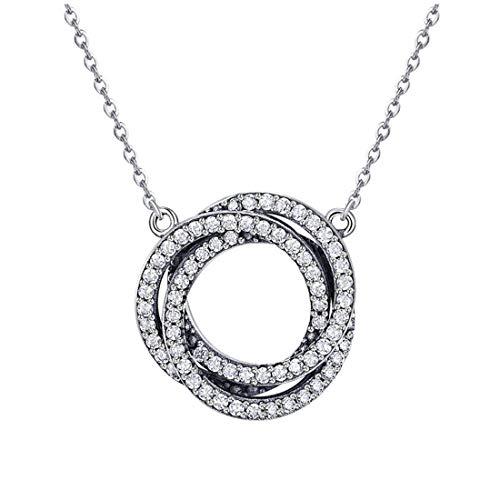 Collar Minimalista De Plata Esterlina S925 Pendientes De Diamantes Chapados En Oro Rosa