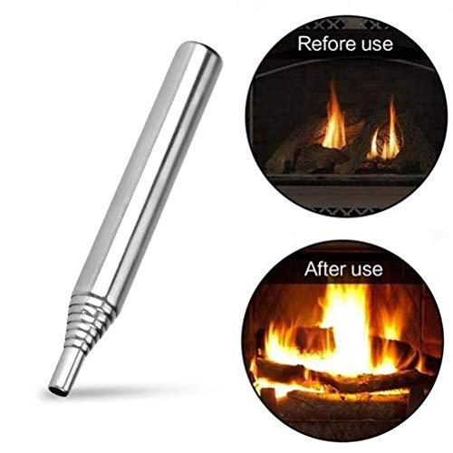 Pywee Lot de 2 tubes de verre à feu pliables en extérieur Outil de roulement pour utilisation en extérieur