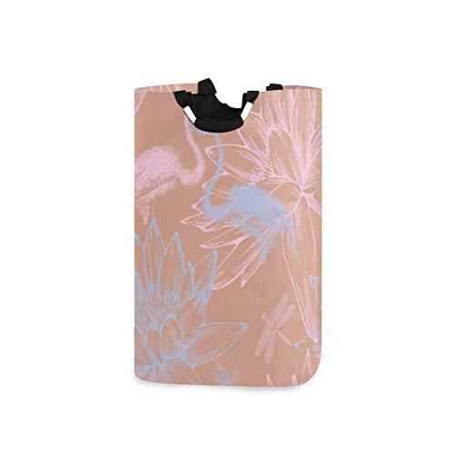 N\A Cesto de lavandería Cubo Plegable Cesto de lavandería Flamencos Azules y Rosados Contenedor de Lavado para Organizador del hogar Almacenamiento de guardería Cesto de bebé Habitación de niños