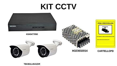Set met 2 bewakingscamera's voor een installatie buitenshuis.