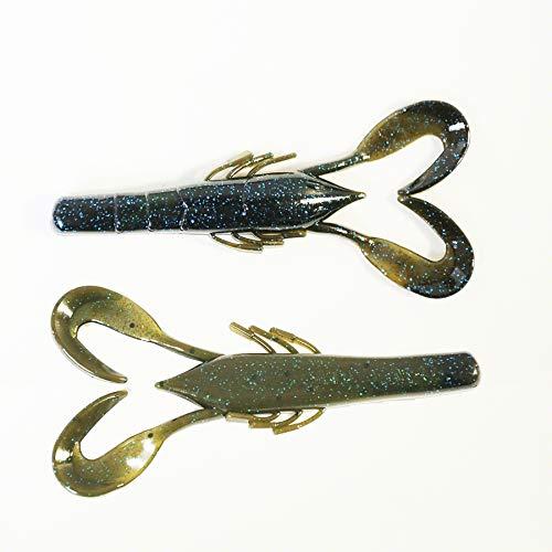 Missile Baits Craw Father Cangrejo de Vinilo de Pesca, Unisex Adulto, Azul (Super Bug), 3.5