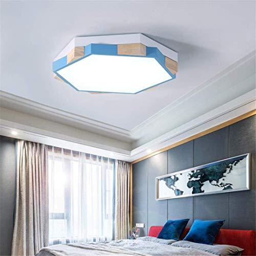 GD1 Plafonnier Lumière Bleu Lampe de Chambre à Coucher pour Enfants Simple Creative Chambre Garçons Et Filles Éclairage Personnalité Géométrique Polygone Petit Appartement Plafond Lampes