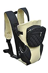 Ineffable® Baby Carrier Cum Kangaroo Bag Bag with Hip Seat and Head Support for 3 to 18 Months with Additional Utility Pocket in Front (Cream),Ineffable