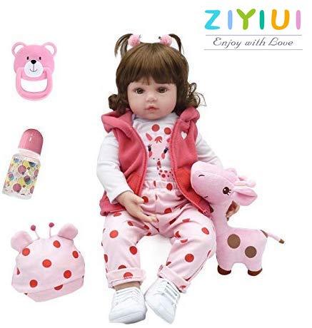 ZIYIUI 22 Pulgadas 55 cm Reborn Muñecas bebé Realista