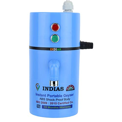 INDIAS, Instant Electric Water Geyser ABS Body- Shock Proof || Electric Saving...