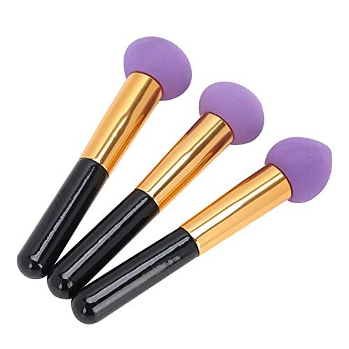 Brocha de maquillaje con esponja, cabeza de esponja ecológica Exquisita y elegante, agradable a la piel para varios cosméticos para hombre con maquillaje(Purple 3)