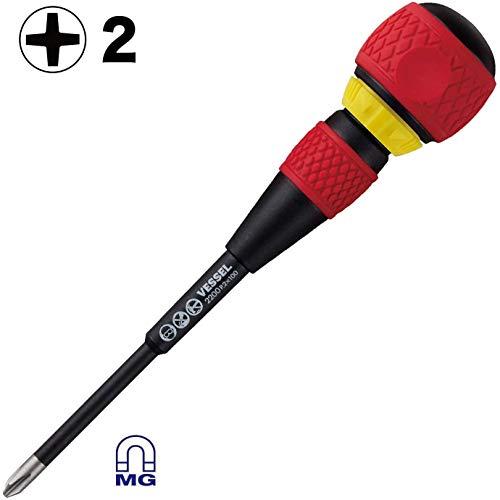 VESSEL BALL GRIP Ratchet Screwdriver (+2x100(4
