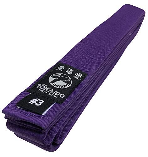 Tokaido Karategürtel violett   Violettgurt Karate Gürtel aus Baumwolle   Verschiedene Längen (245)