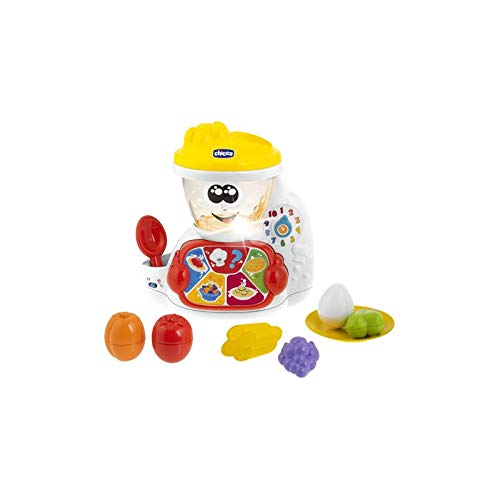 Chicco Cooky - Robot de cocina bilingüe con forma de clasión/apilar