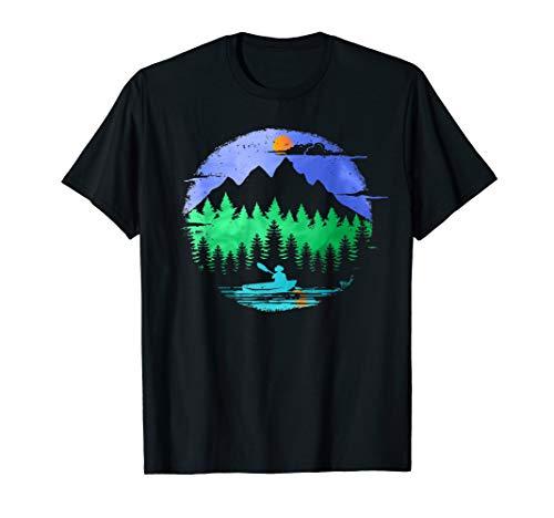 Kayak Adventure Fans Paddle on a Mountain Lake T-shirt