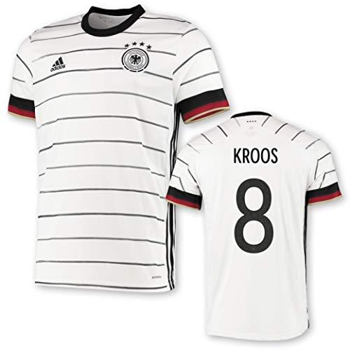 adidas DFB Deutschland Trikot Home EM 2020 Kinder inkl. Original Flock (Kroos + 8, 152)