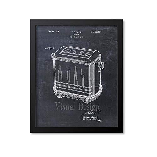 MG global Arte de pared con estampado de patente tostadora