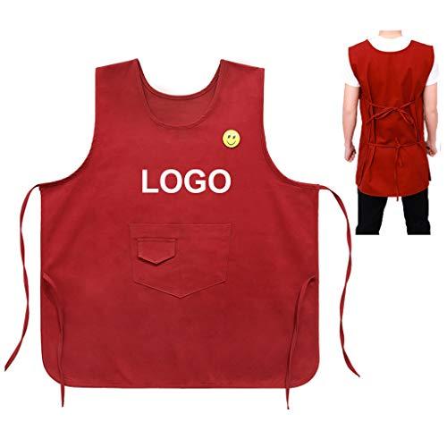 Workwear Schort - Gepersonaliseerde schorten naam of wensbegrip -fruitzaken, supermarkt schort met zakken Customizationa