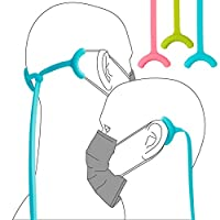 Bone Lanyard Mask Tie マスク ストラップ シリコン製 3本入り 耳 痛くならない 耳のかぶれ防止 紛失防止 首掛け 長さ調整可能 全年齢適用 長時間使用する方に最適 最新オリジナルデザイン ブルー+グリーン+ピンクの3本入り
