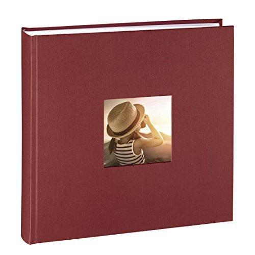 Hama Jumbo Fotoalbum Fine Art, 30 x 30 cm, 100 Seiten in weiß, 50 Blatt, Fotobuch mit Ausschnitt...